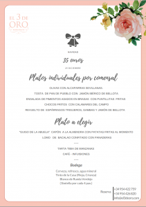 COMIDA DE NAVIDAD - 25 DICIEMBRE